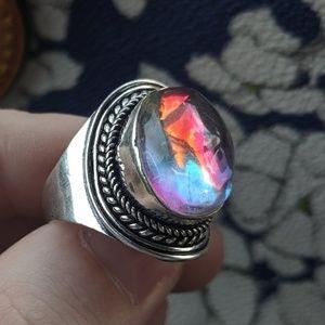 VTG 925 silver Rainbow Ring